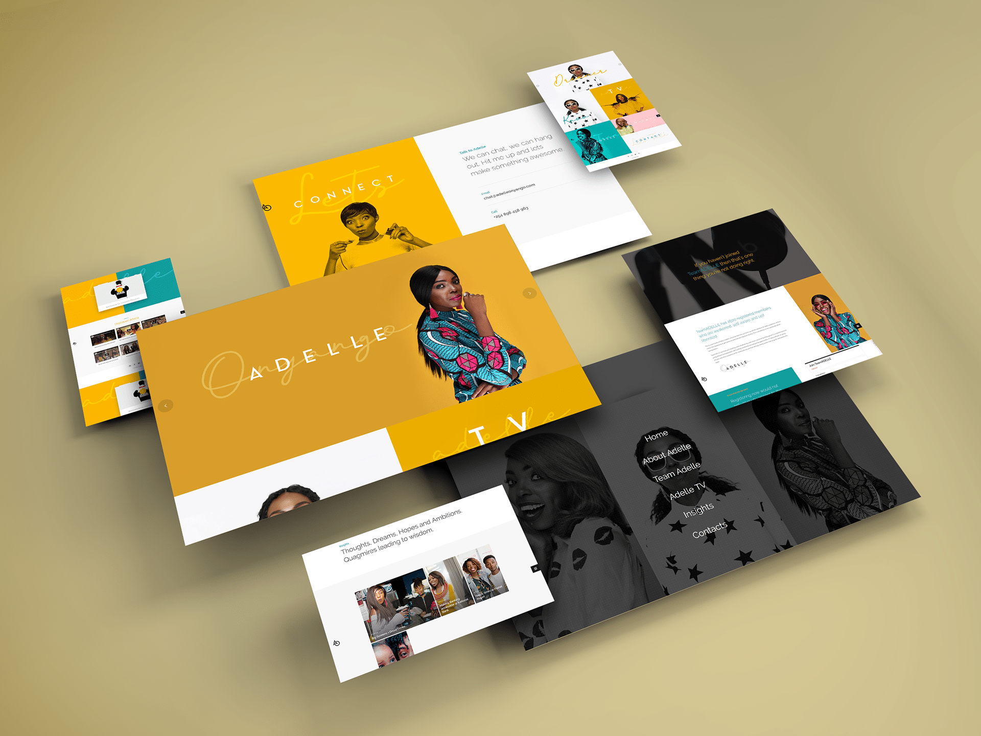 Adelle Onyango Website Deigned by Jabari Creative Studios