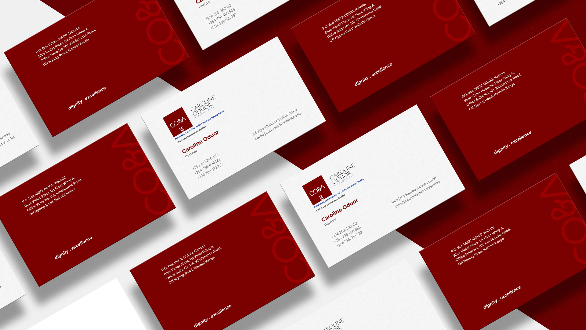 Caroline Oduor Business Cards Deigned by Jabari Creative Studios