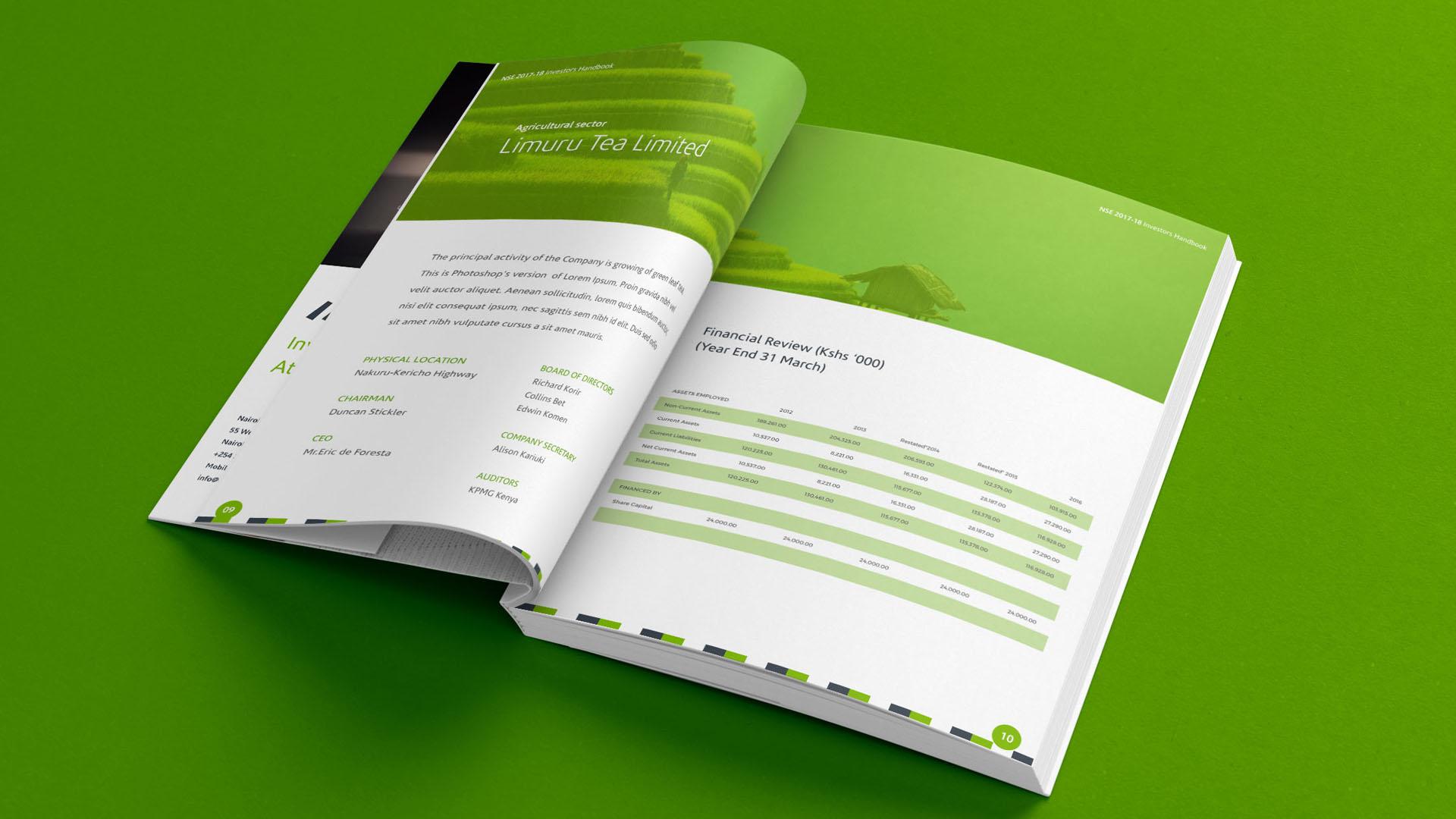 NSE Annual Report Deigned by Jabari Creative Studios