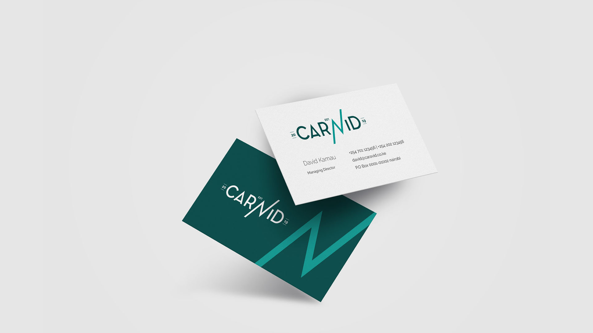 Caravid Business Card Deigned by Jabari Creative Studios
