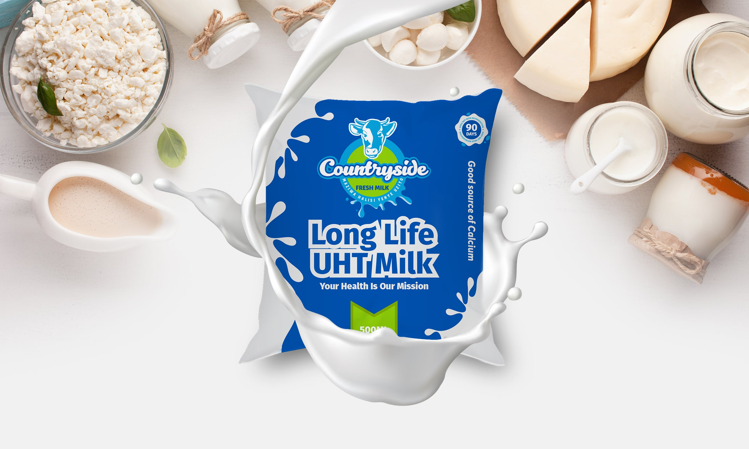 Countryside Long Life Milk Designed by Jabari Creative Studios