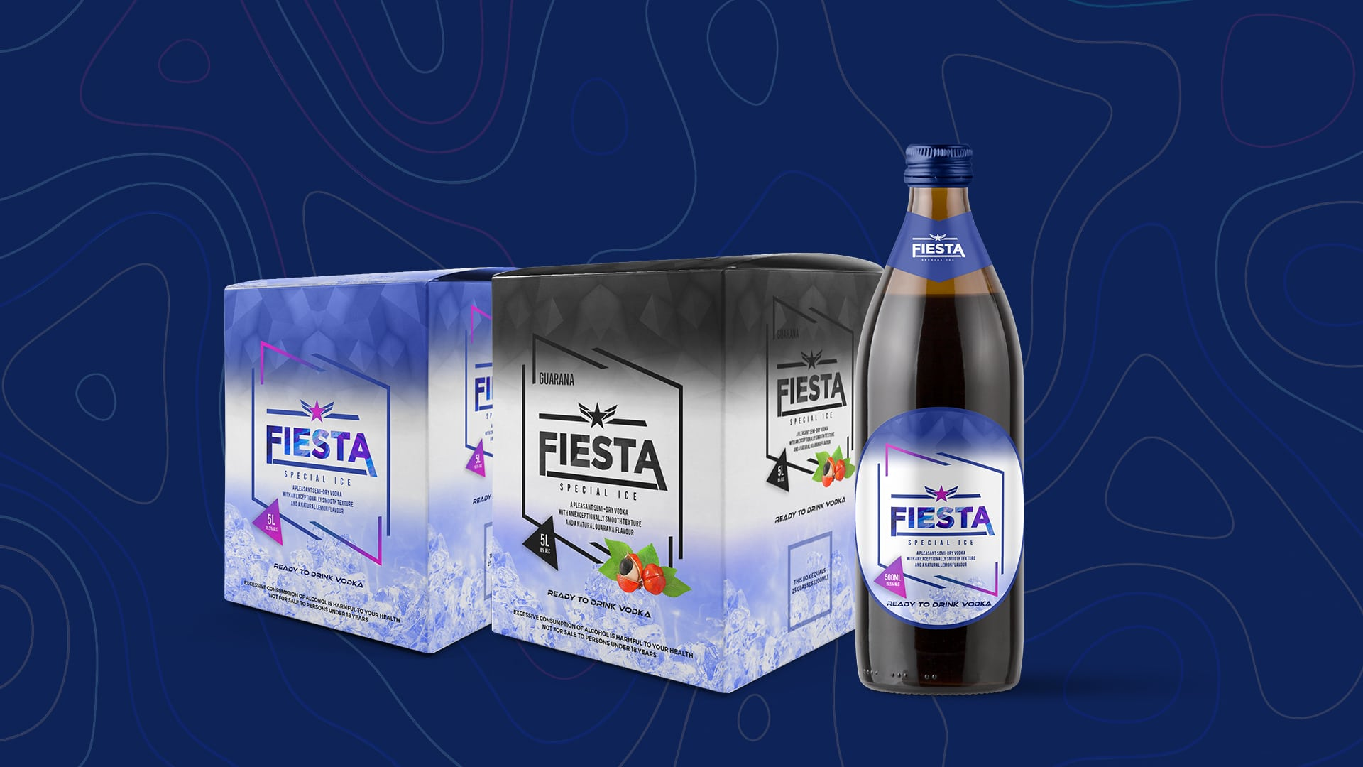 Fiesta Special Ice Packaging Deigned by Jabari Creative Studios