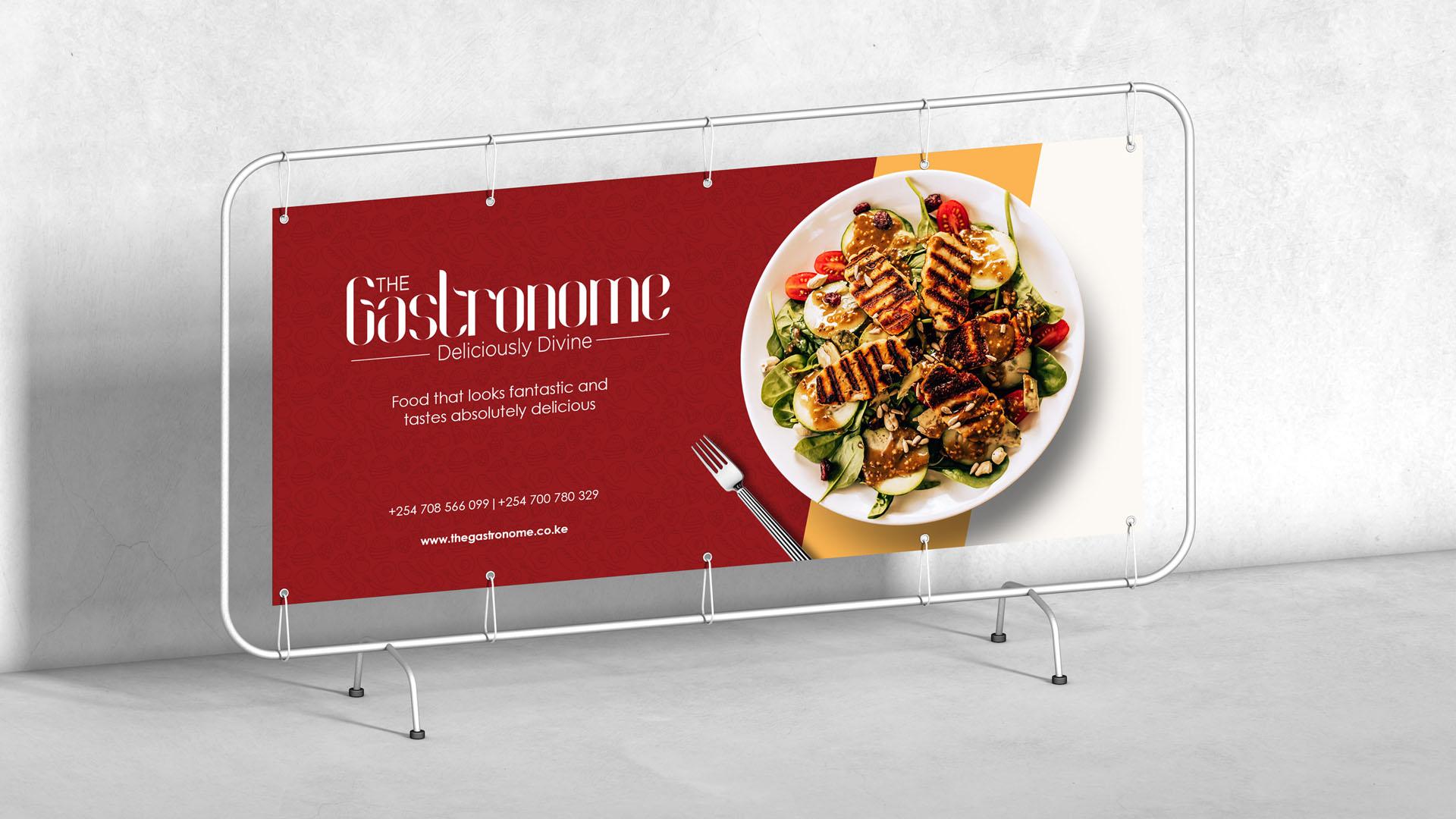 The Gastronome Banner Deigned by Jabari Creative Studios