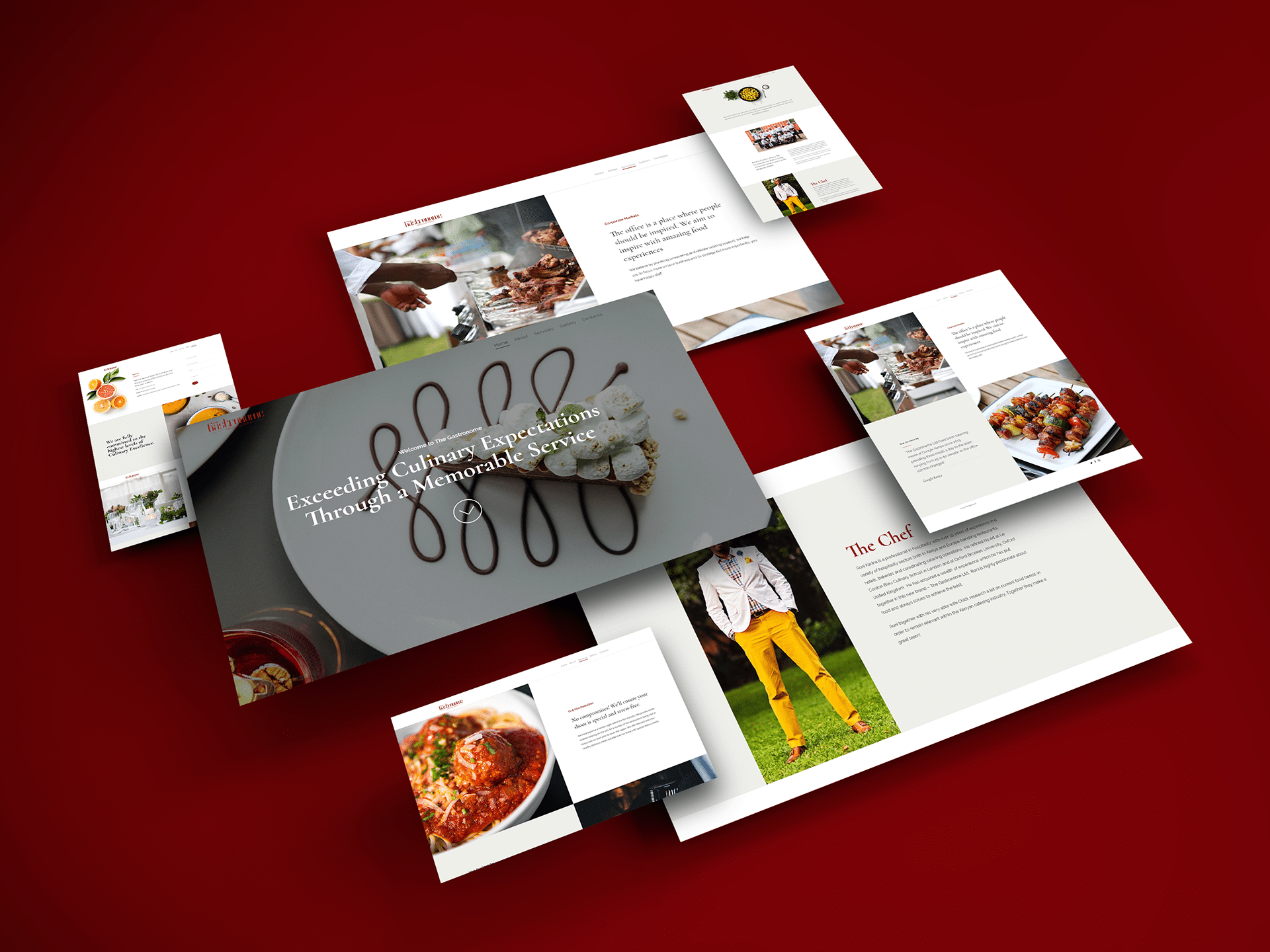 The Gastronome Website Deigned by Jabari Creative Studios